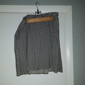 Black and white skirt h&m